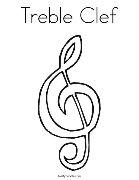 Treble Clef Coloring Page