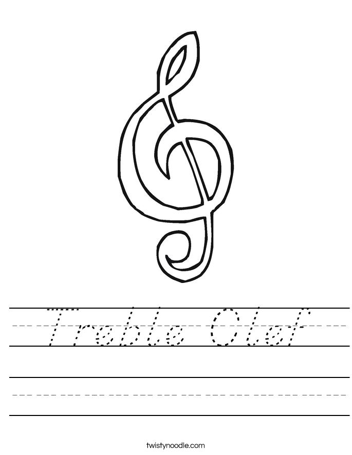 Treble Clef Worksheet