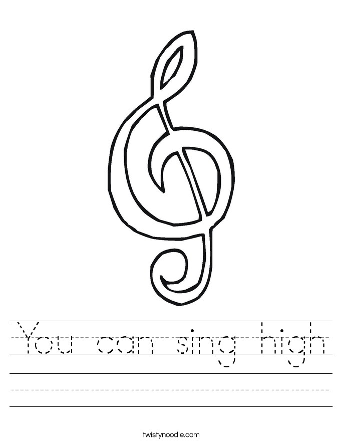 You can sing high Worksheet