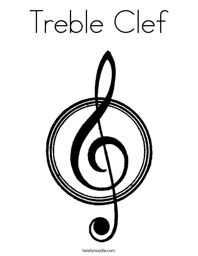 treble clef coloring page