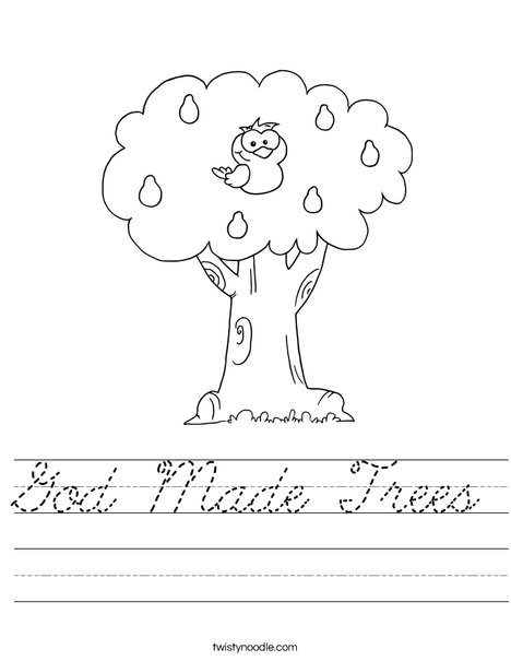 Tree with Owl Worksheet