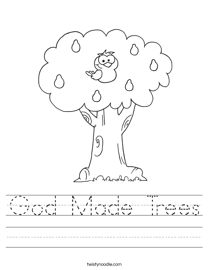 God Made Trees Worksheet