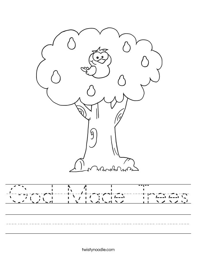 God Made Trees Worksheet