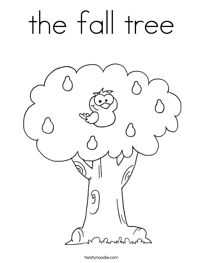 The fall tree coloring page twisty noodle Winter Tree Coloring Pages Fall Tree Girl Fall Tree Drawing