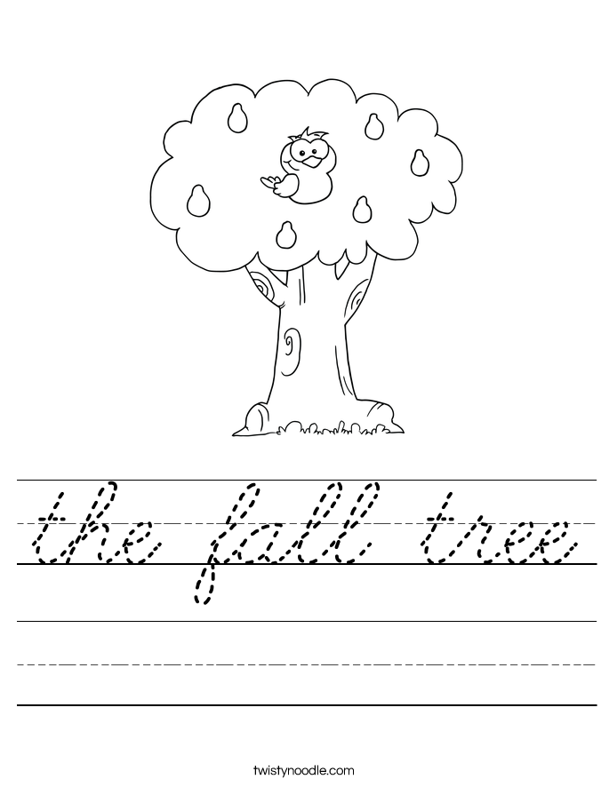 the fall tree Worksheet