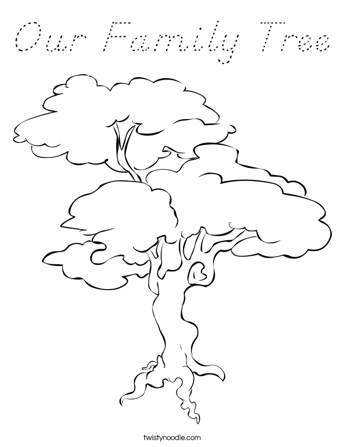 Our family tree coloring page d 39 nealian twisty noodle for Robert munsch coloring pages
