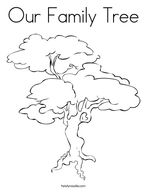 Family Tree Coloring Sheet
