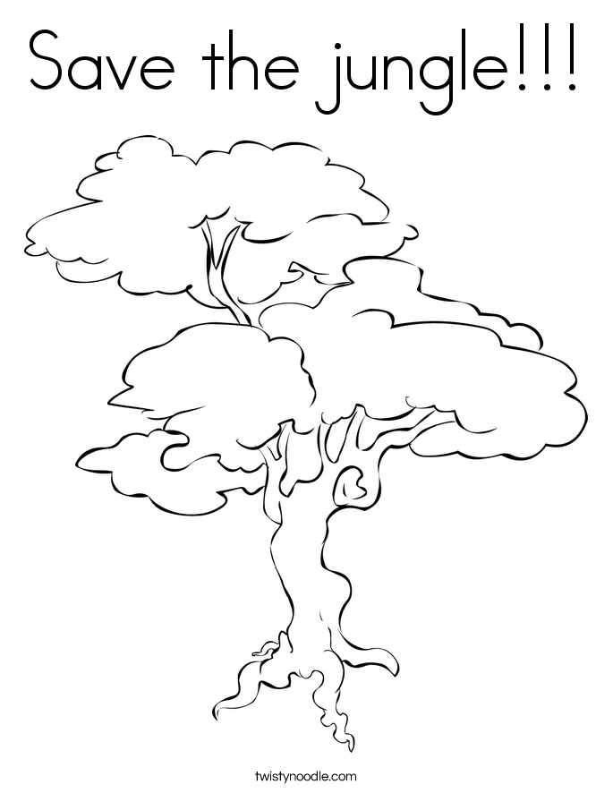 Save the jungle!!! Coloring Page