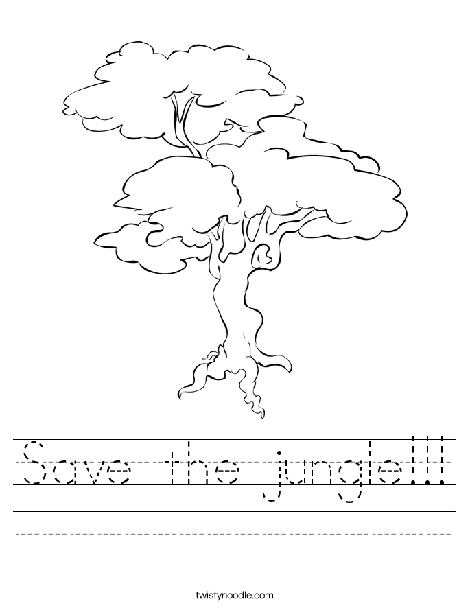 Save the jungle!!! Worksheet