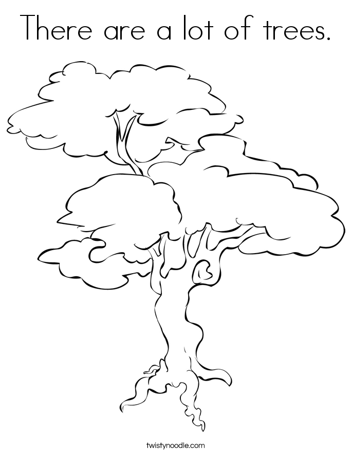 There are a lot of trees. Coloring Page
