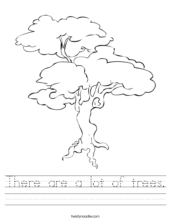 There are a lot of trees. Worksheet