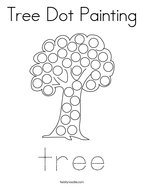 Tree Dot Painting Coloring Page