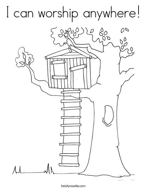 worship coloring pages I can worship anywhere Coloring Page   Twisty Noodle worship coloring pages