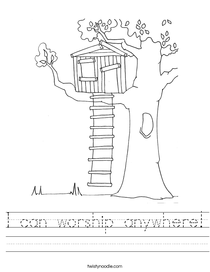 I can worship anywhere! Worksheet