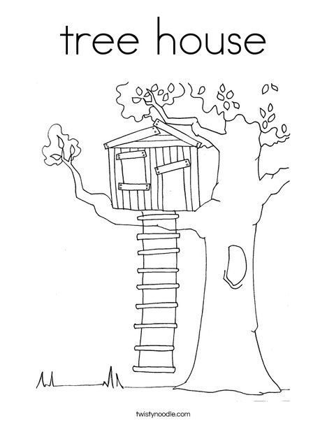 tree house coloring pages tree house Coloring Page   Twisty Noodle tree house coloring pages