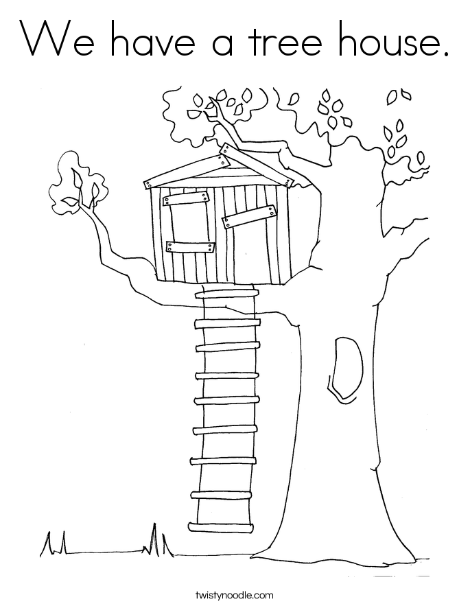 We have a tree house Coloring Page - Twisty Noodle