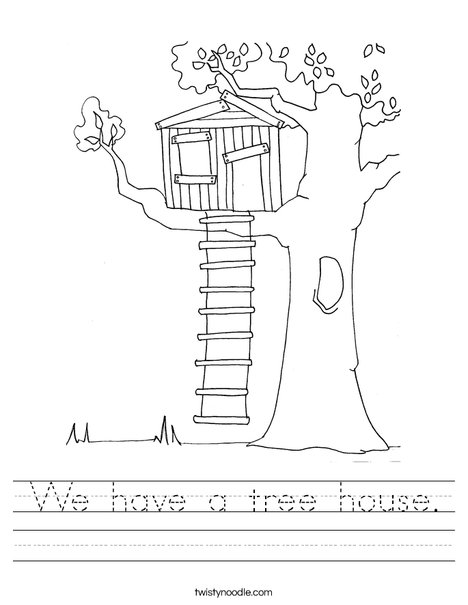 Tree House Worksheet