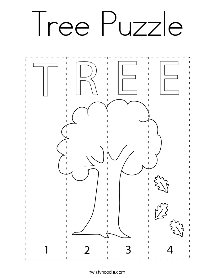 Tree Puzzle Coloring Page