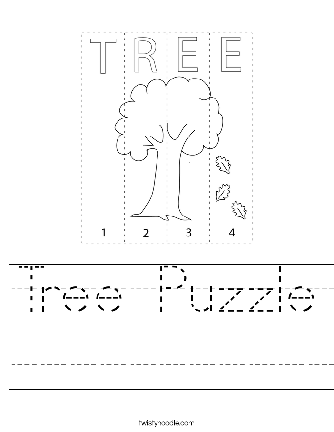 Tree Puzzle Worksheet