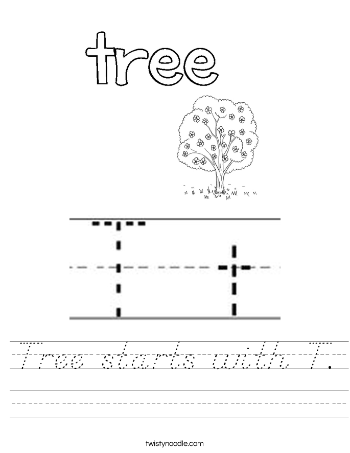 Tree starts with T. Worksheet