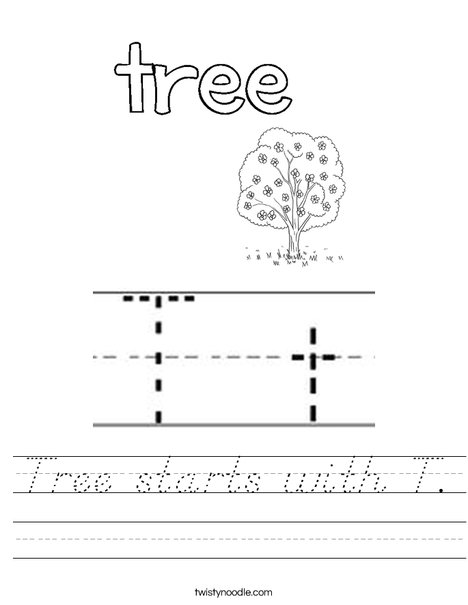 Tree starts with T! Worksheet