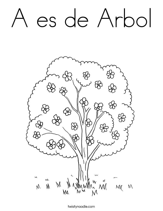 A es de Arbol Coloring Page