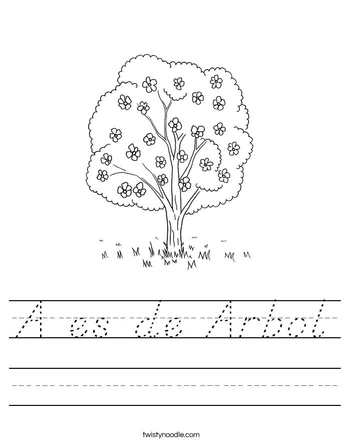 A es de Arbol Worksheet