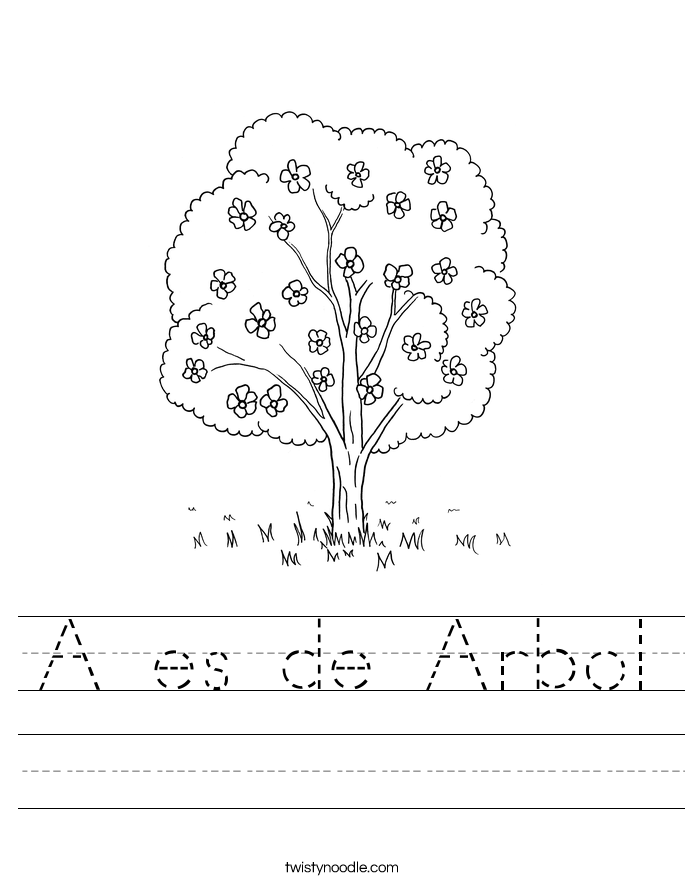 A es de Arbol Worksheet