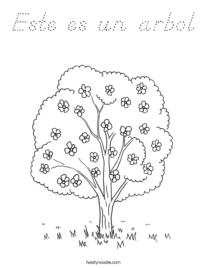 Este es un arbol Coloring Page