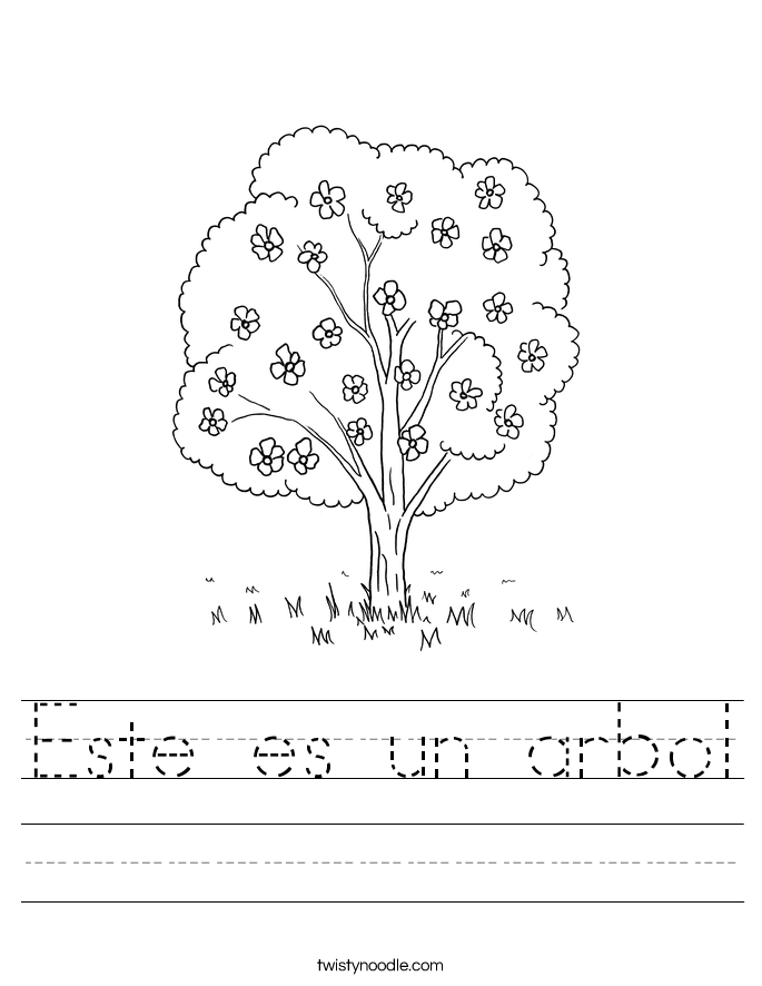 Este es un arbol Worksheet
