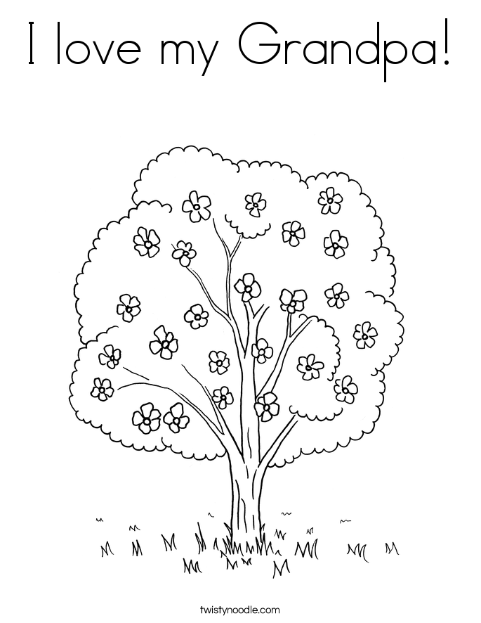 I love my Grandpa! Coloring Page