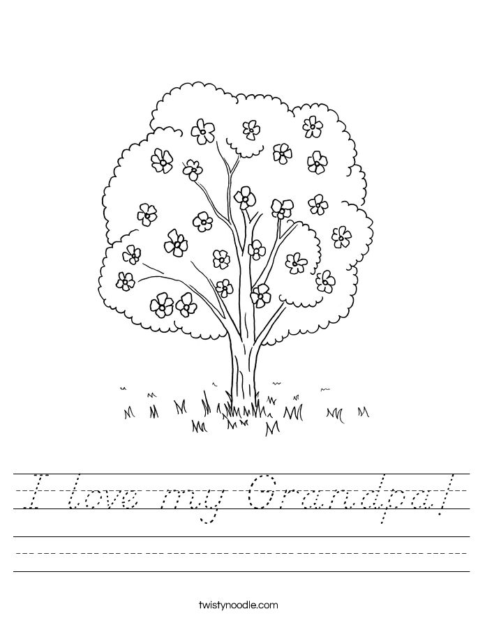 I love my Grandpa! Worksheet