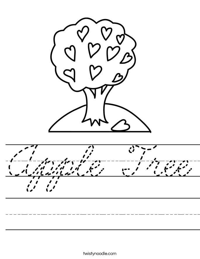 how to write apple in cursive