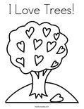 I Love Trees!Coloring Page