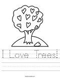 I Love Trees! Worksheet