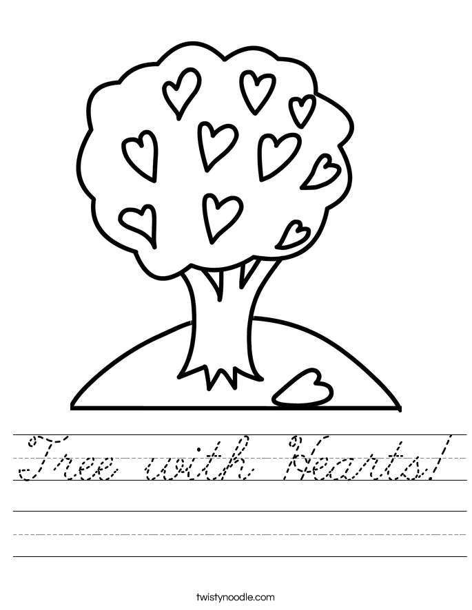 Tree with Hearts! Worksheet