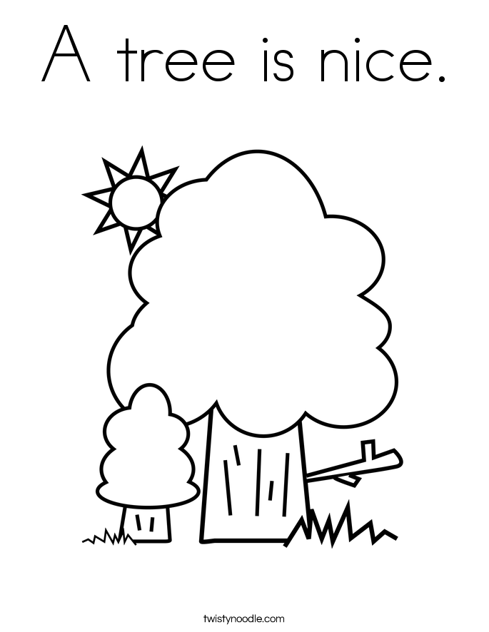 A tree is nice. Coloring Page