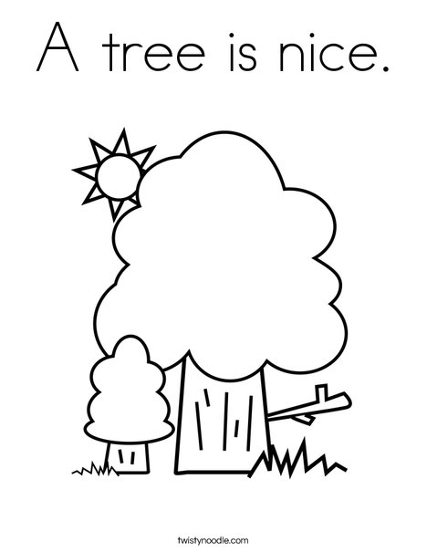 Trees Coloring Page