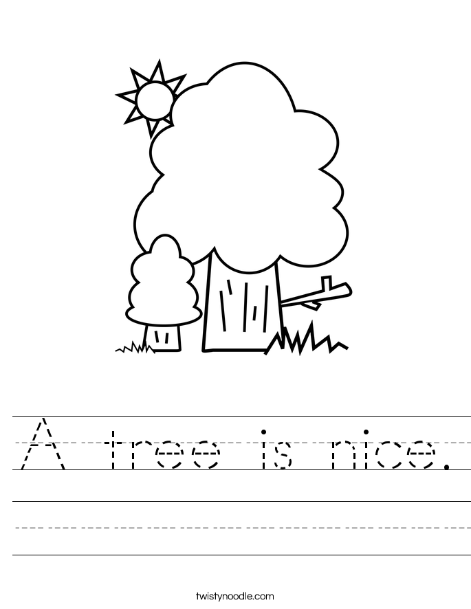 A tree is nice. Worksheet