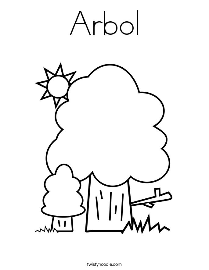 Arbol Coloring Page