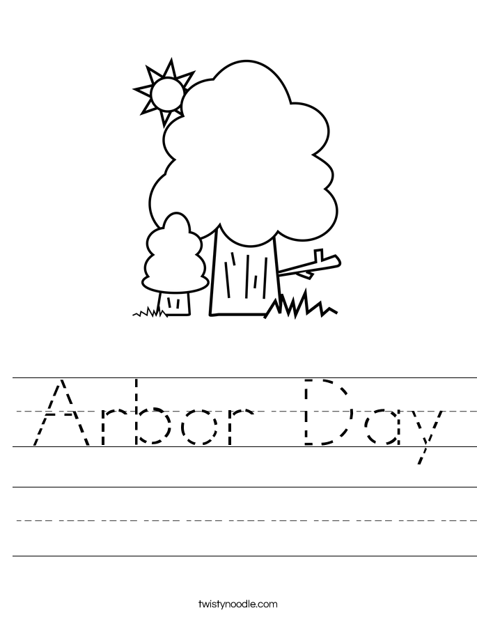 Arbor Day Worksheet