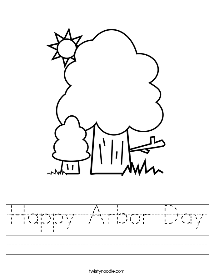Happy Arbor Day Worksheet