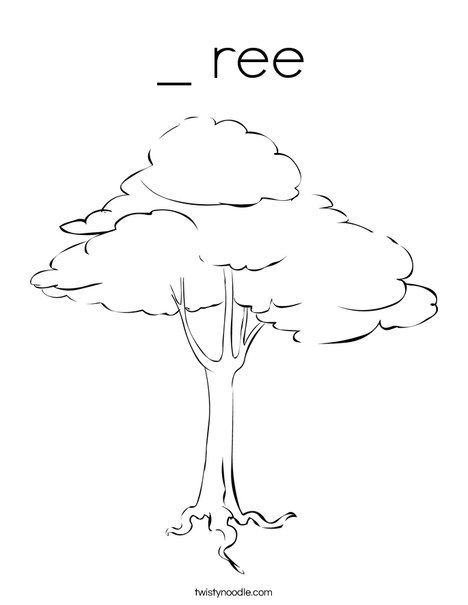 Brown Tree Coloring Page