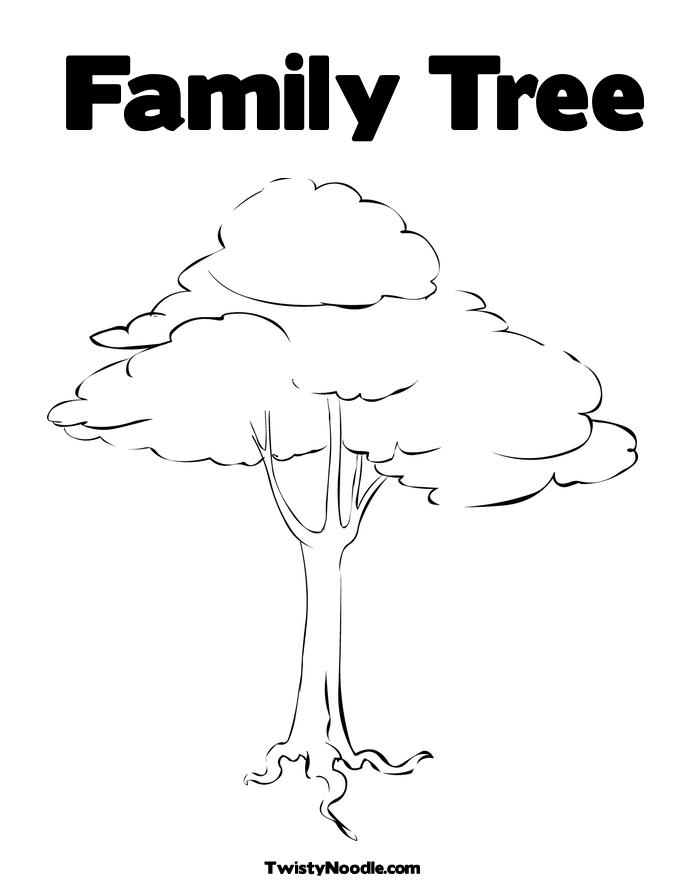 Free Coloring Pages Of Our Family Tree Family Tree Coloring Pages