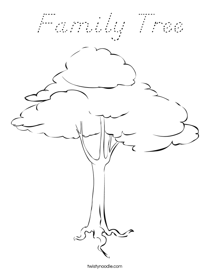 Family Coloring Sheet Coloring Pages of Family Tree