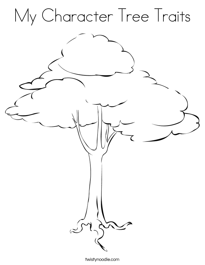 My Character Tree Traits Coloring Page