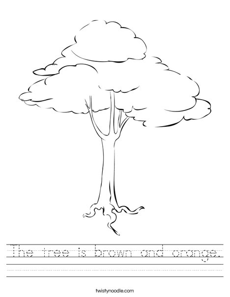Brown Tree Worksheet