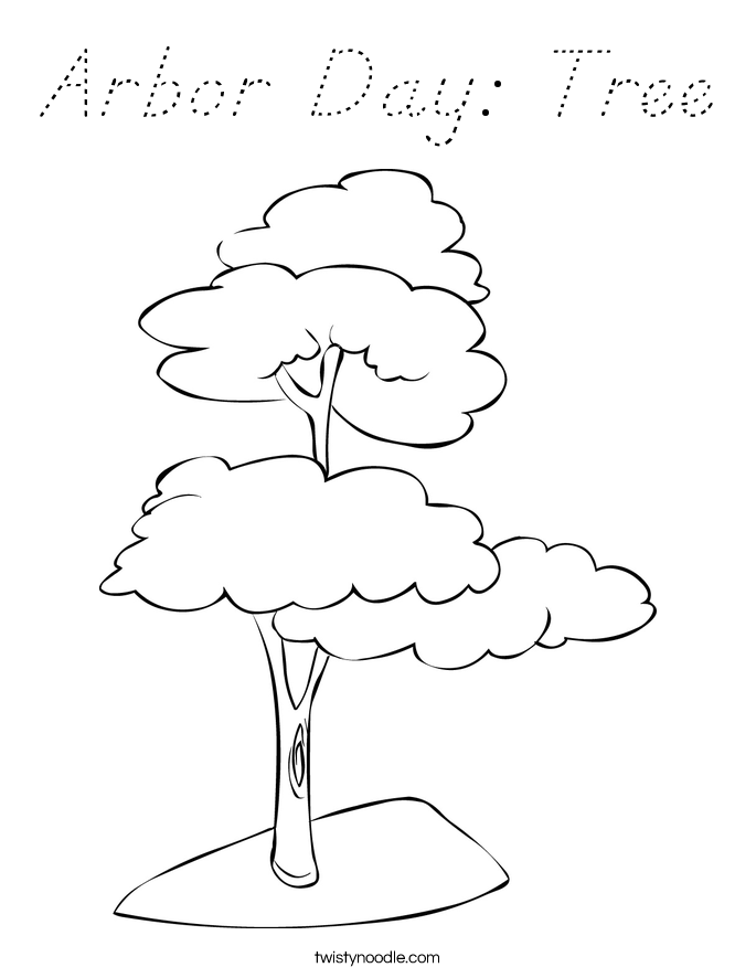 Arbor Day: Tree Coloring Page