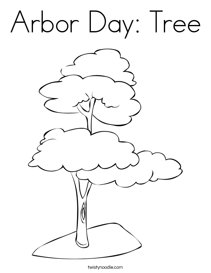 Arbor Day Tree Coloring Page Twisty Noodle