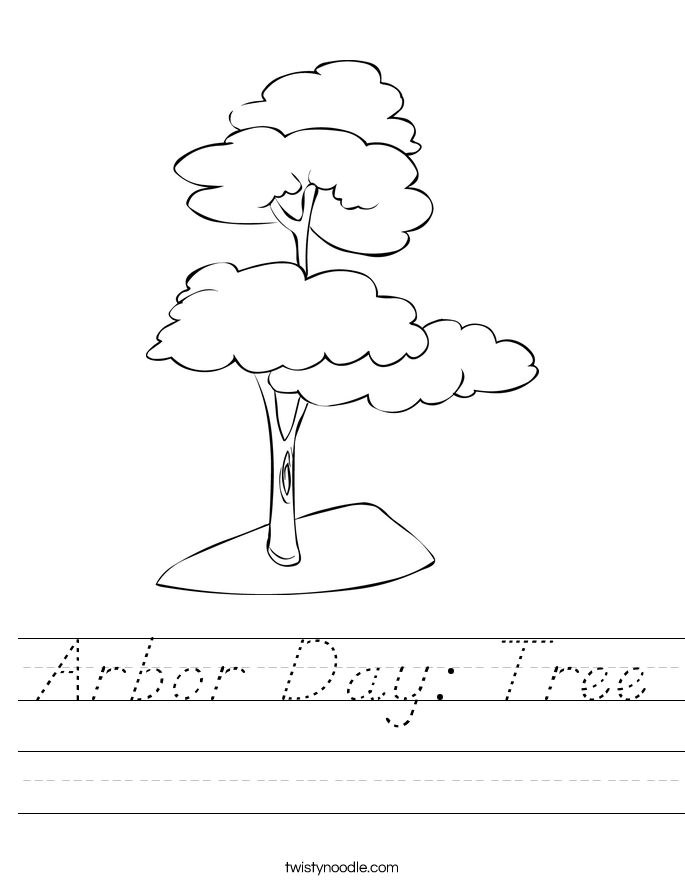 Arbor Day: Tree Worksheet